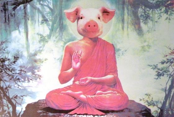 Buddha Pig - Karen Fiorito