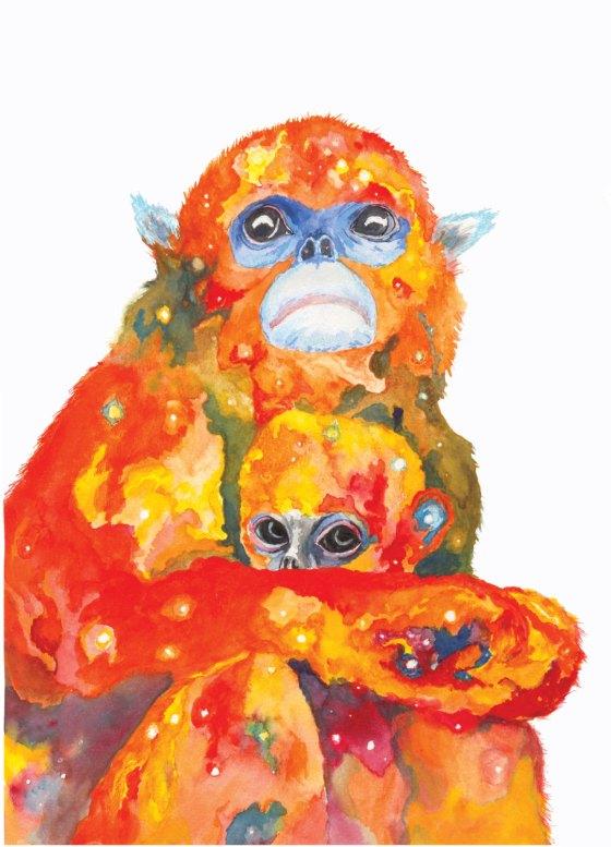 Celestial Ghost Golden Monkeys-- Aaron Wright