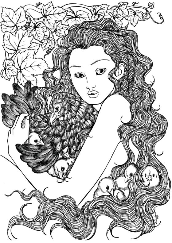 Chickens Nymph - Jade Monica Bello