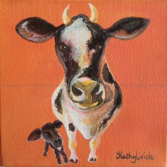 Cow and Calf - Kathy Livick