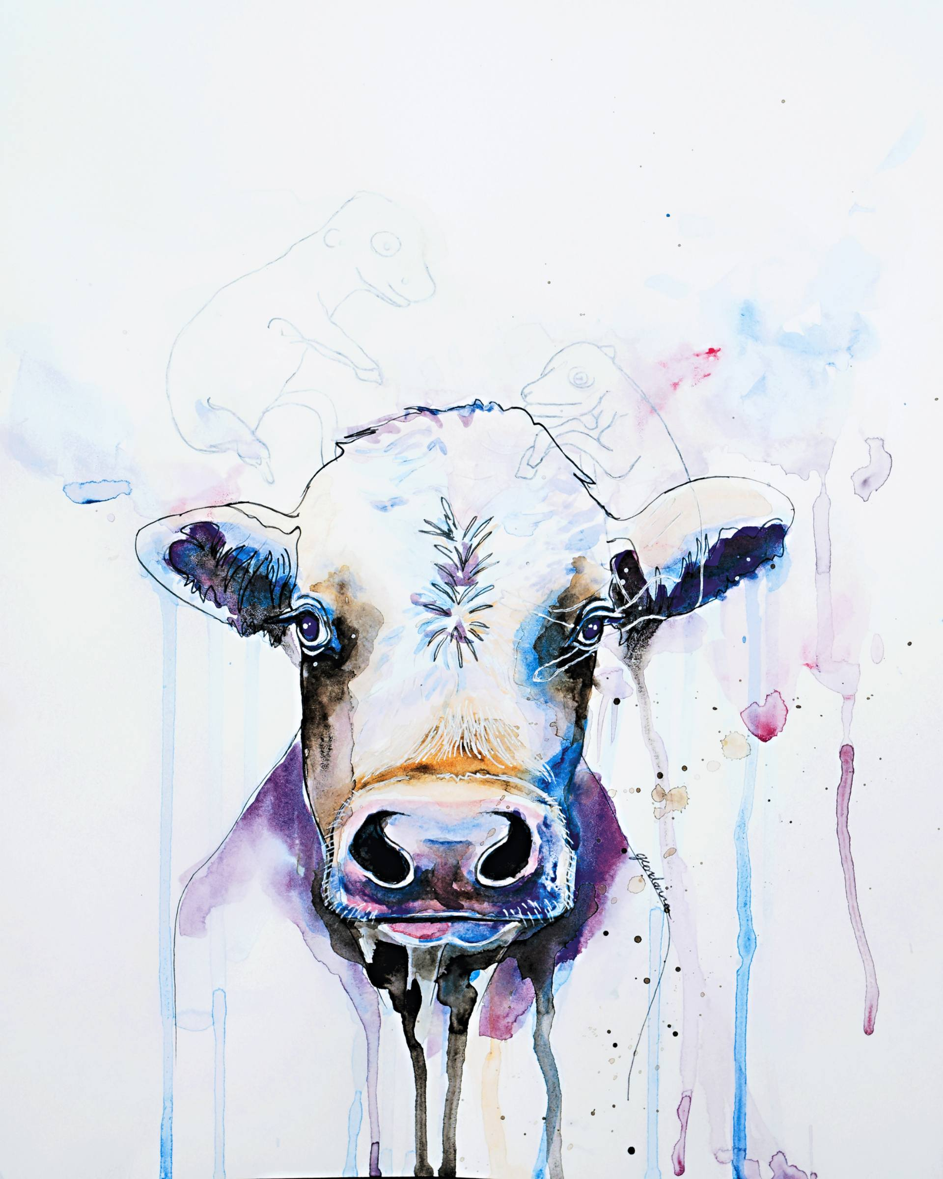 Cow and Fetus - Geordanna Cordero-Fields