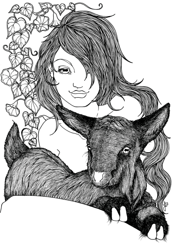 Goat Nymph - Jade Monica Bello