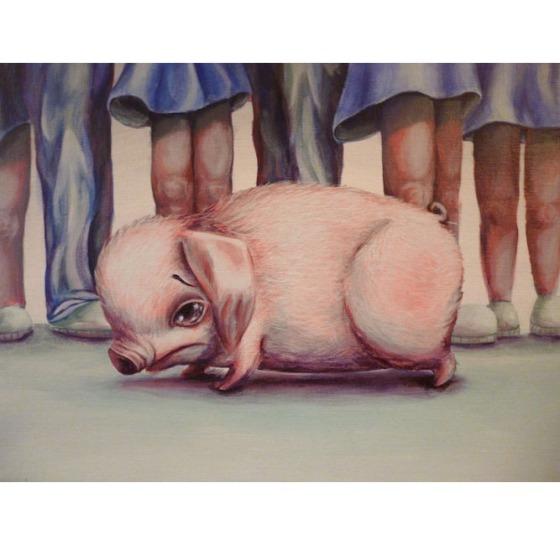 Melancholy Mini Pink Pig - Sarah Stupak