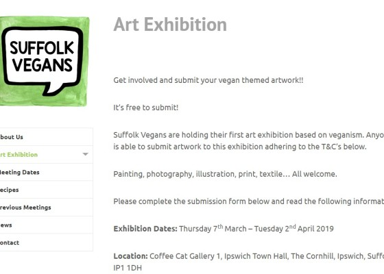 Suffolk Vegans Vegan Art Show