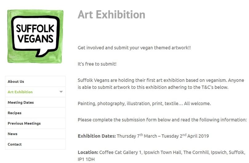 Suffolk Vegans Vegan Art Show